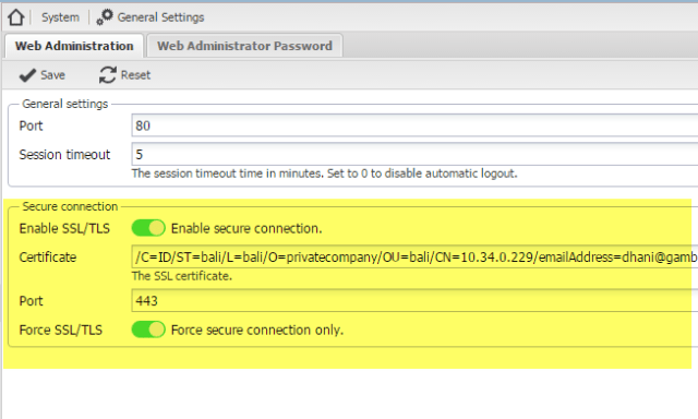Enable SSL/TLS connection on OpenMediaVault Server