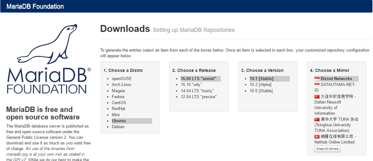 mariadb on ubuntu 16 04 - Tutorial and Full Version Software