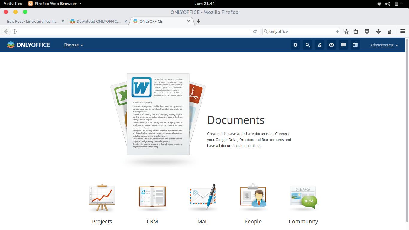 Ubuntu Tutorial-Install Onlyoffice Community Server on Ubuntu 16 04