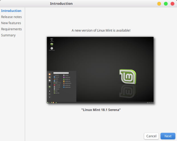 upgrade to linux mint 18.1