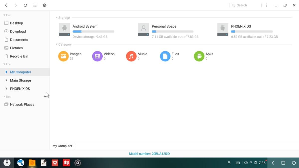 phoenix os 2.1.1 screenshots