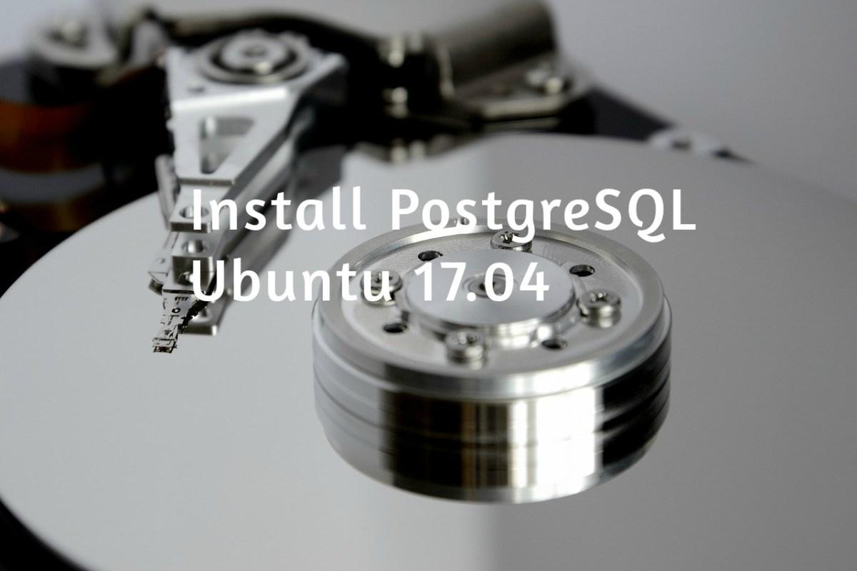 install postgresql ubuntu 17.04