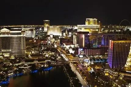 Looking north on the Las Vegas Strip