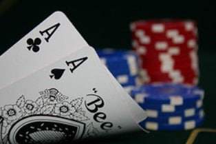 A Pair of Aces Gets You Half-Way to a Possible Bad Beat Jackpot