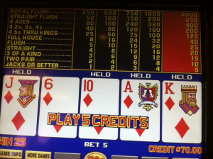 Cheating at Video Poker would have made this a Royal