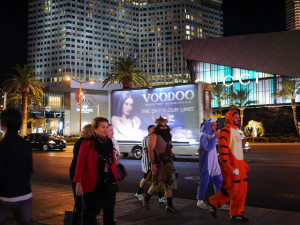 Halloween Night on the Las Vegas Strip - or possibly a Tuesday.