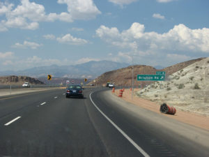 Interstate 15, Just before you get to St. George