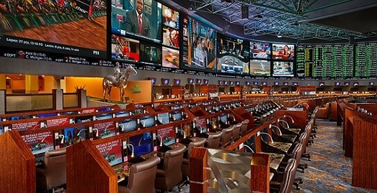 The Superbook at the Westgate is the largest sportsbook in Las Vegas
