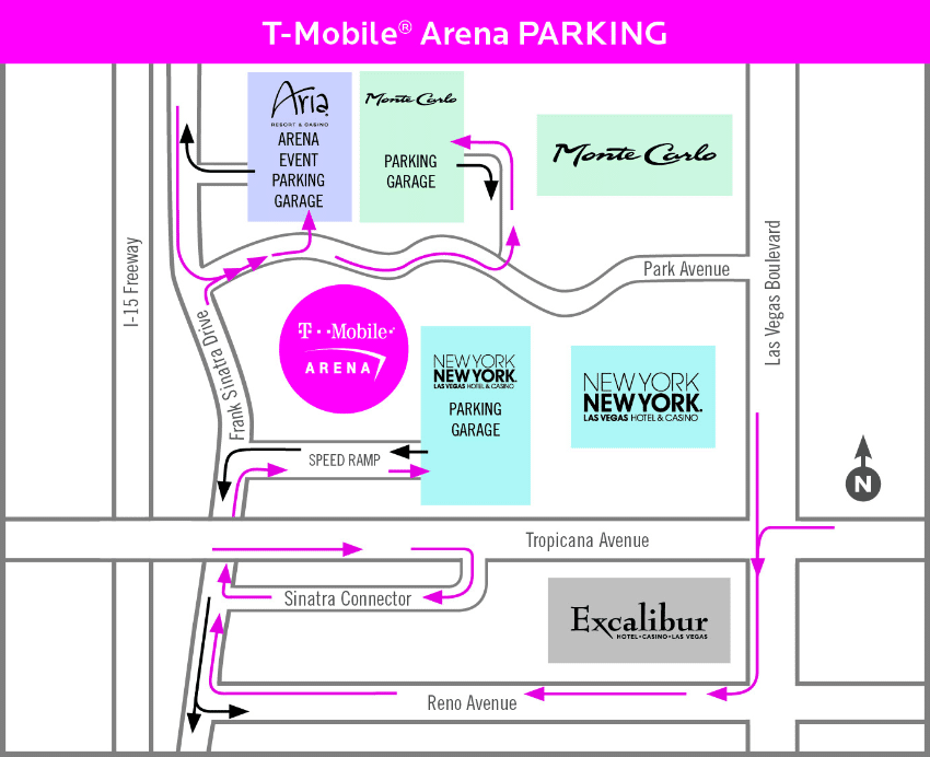 T-Mobile Arena Parking Map