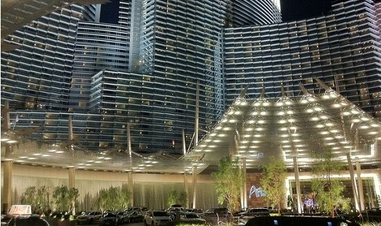 There's a fee to park at the Aria Hotel & Casino