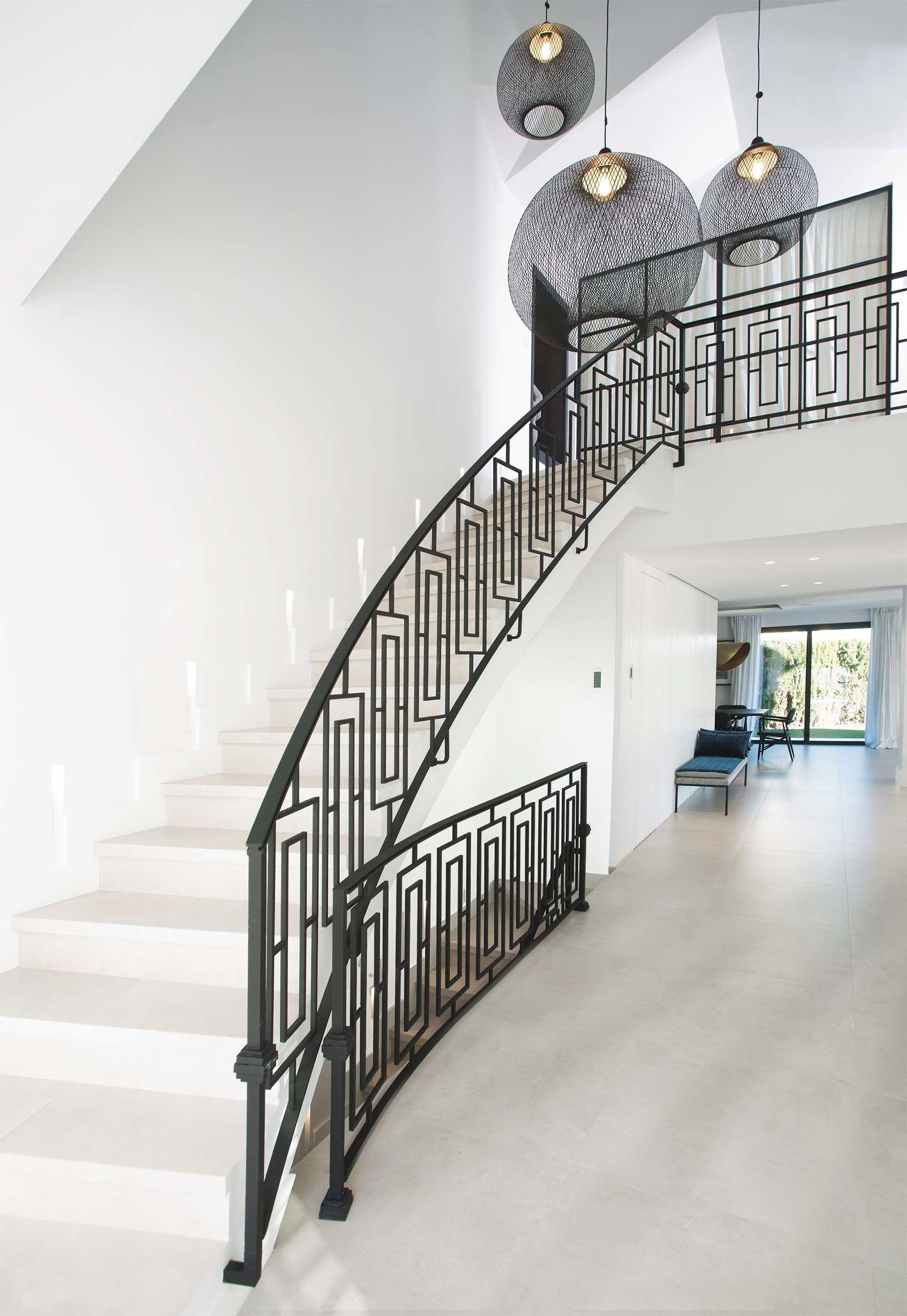Modern Staircase Design Contemporary Stair Design Ideas | White And Glass Staircase | Before And After | American White Oak | Luxurious | High End Glass | White Handrail Treads