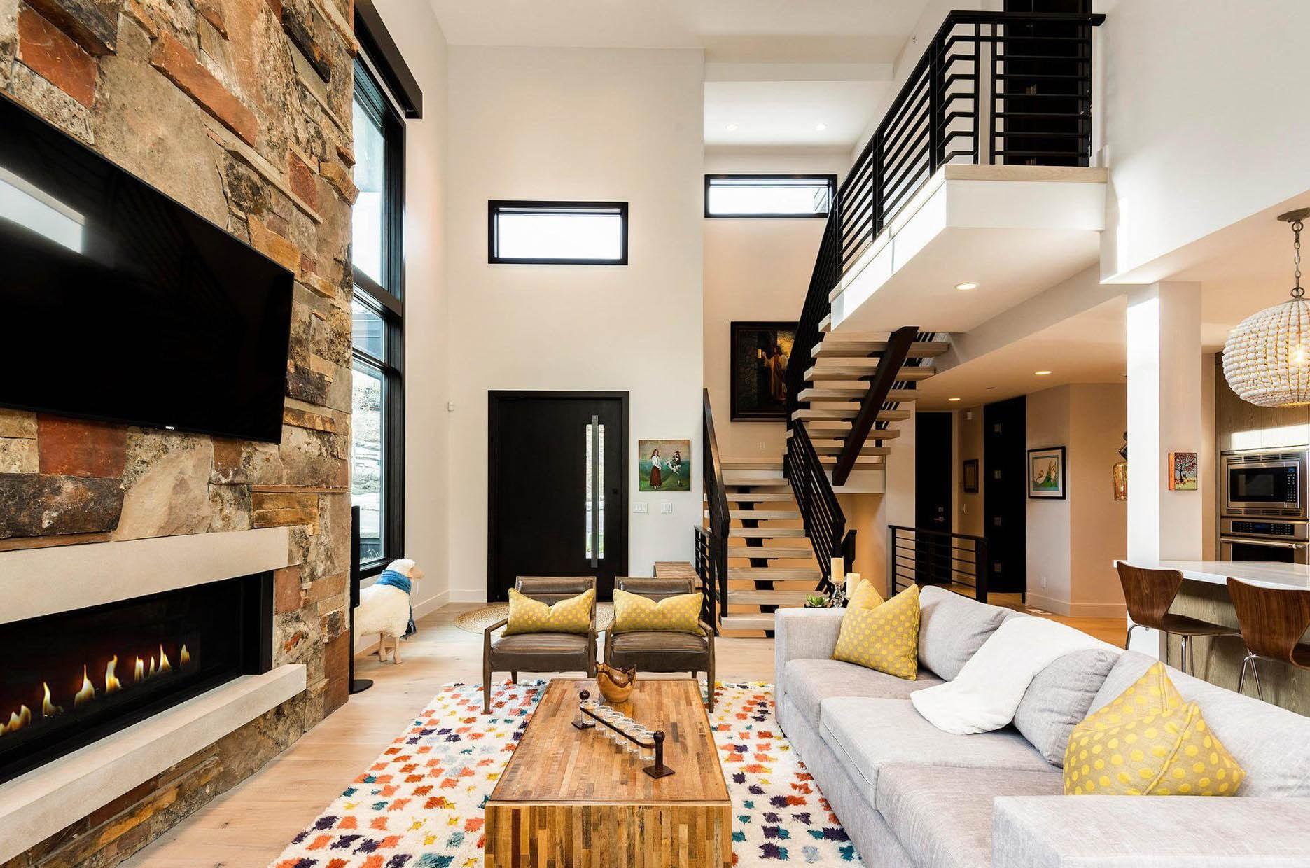 Modern Staircase Design Contemporary Stair Design Ideas | Black Modern Stair Railing | Glass | Raised Ranch | Minimalist | Interior | Chris Loves