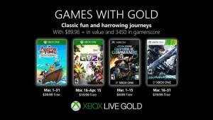 Games With Gold mars 2019 : la liste des jeux Xbox gratuits