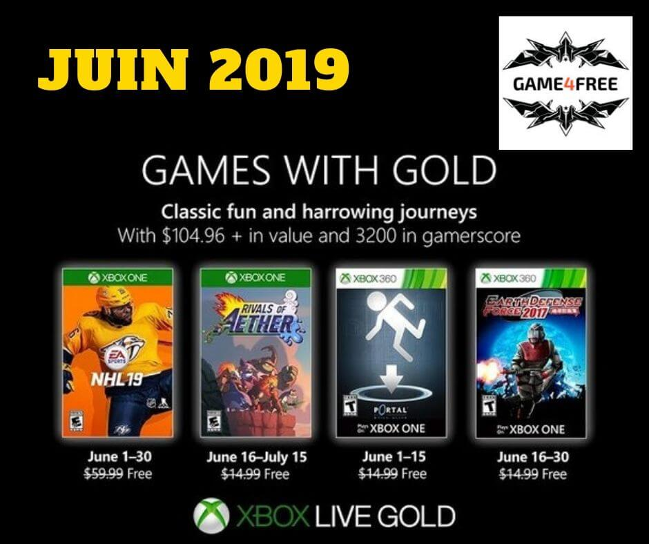 Games with Gold XBOX – Juin 2019