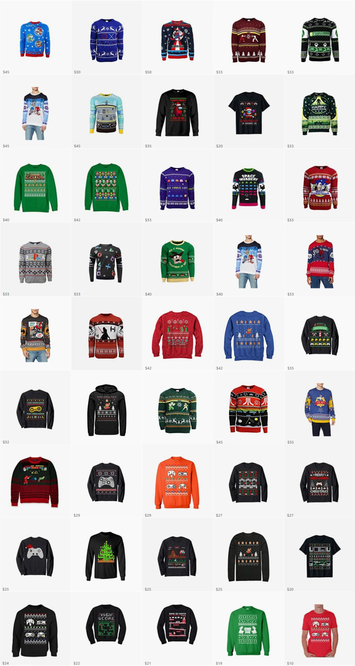 ugly christmas sweaters for gamers