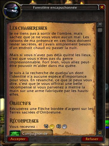 A La Recherche De La Source Wow : recherche, source, L'Ombre, Fief,, Auberge,, Elfette, Game-Guide