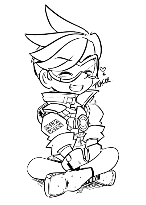 Overwatch Coloring Pages Print And Colorcom Sketch