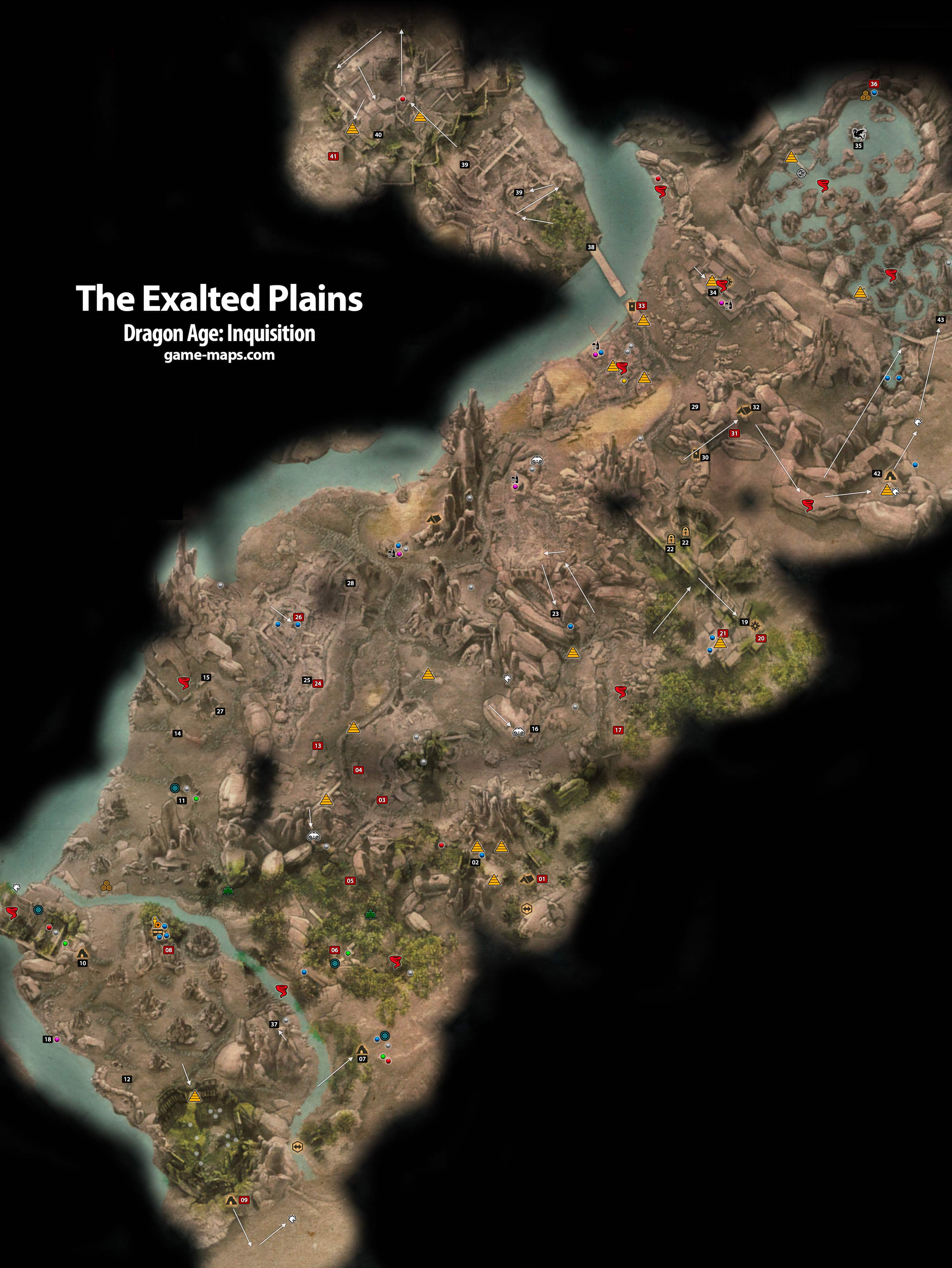 Map Of Emerald Graves : emerald, graves, Exalted, Plains, Dragon, Inquisition, Game-maps.com