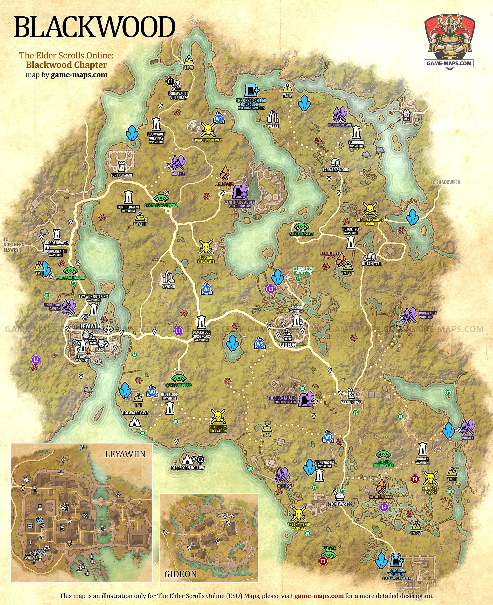 Stonefalls Ce Treasure Map : stonefalls, treasure, Blackwood, Elder, Scrolls, Online:, (ESO)