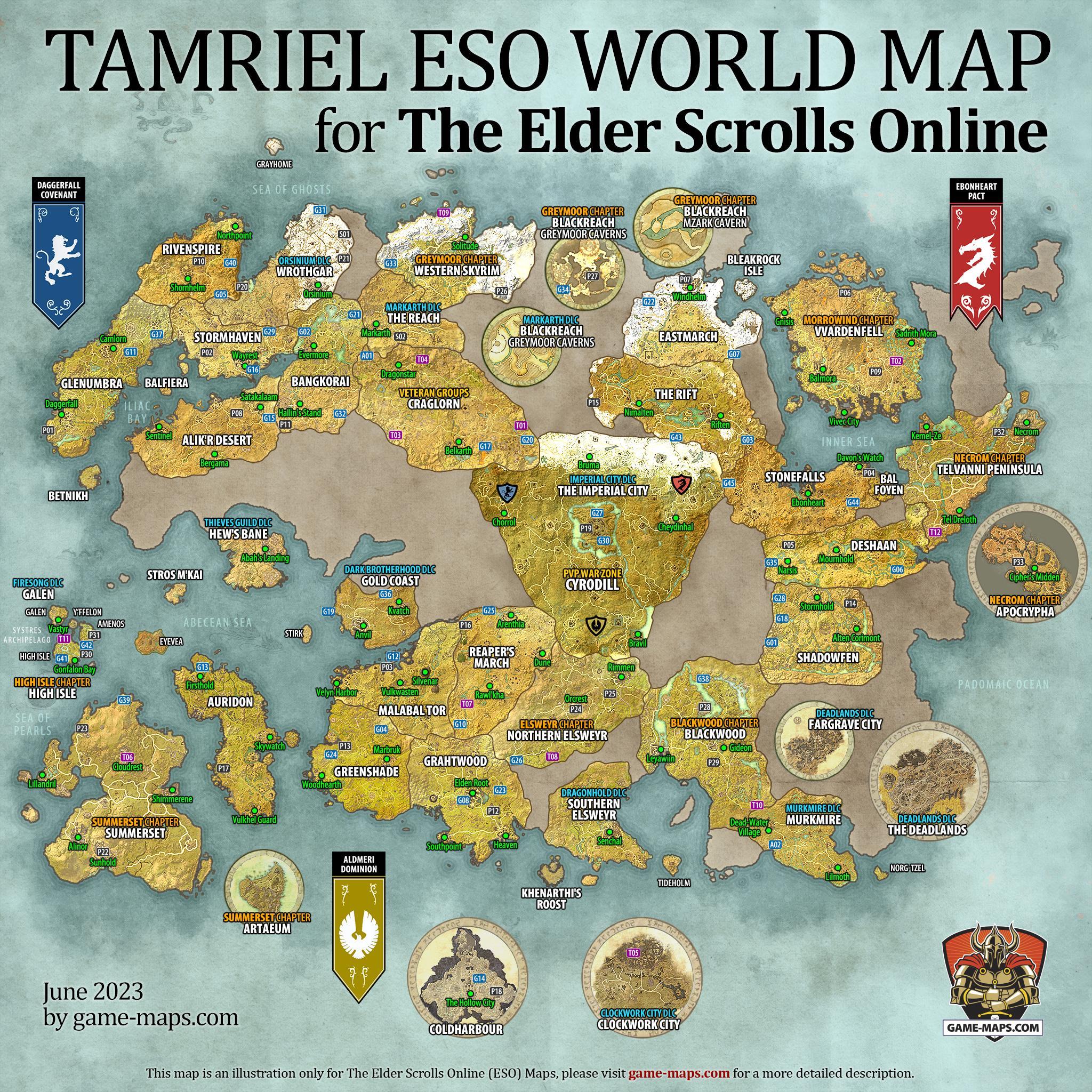 Eso Khenarthi's Roost Treasure Map 3 : khenarthi's, roost, treasure, Elder, Scrolls, Online, Walkthrough, Guide, Game-maps.com