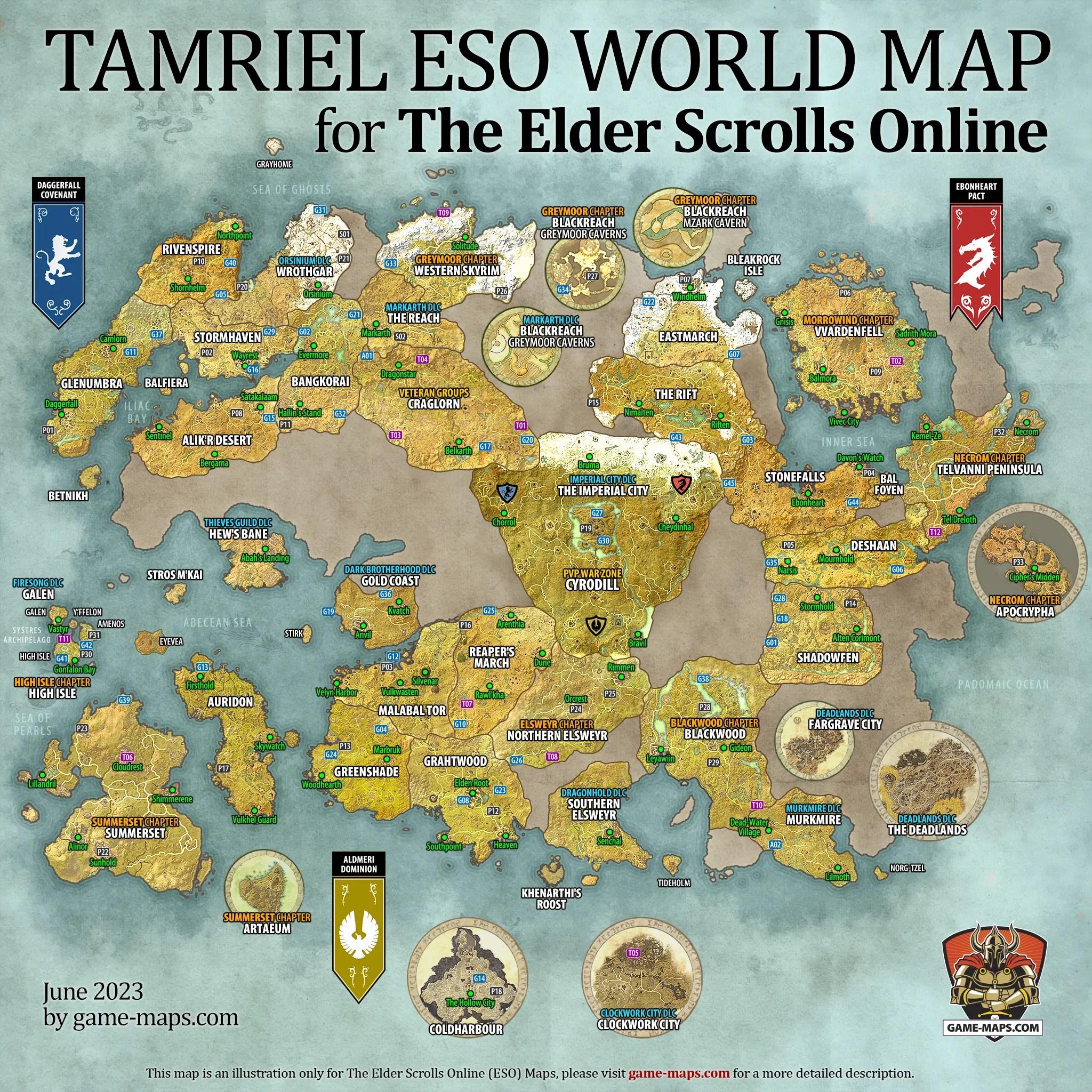 Elder Scrolls 2 Map Size : elder, scrolls, Question, About, Size., Elderscrollsonline