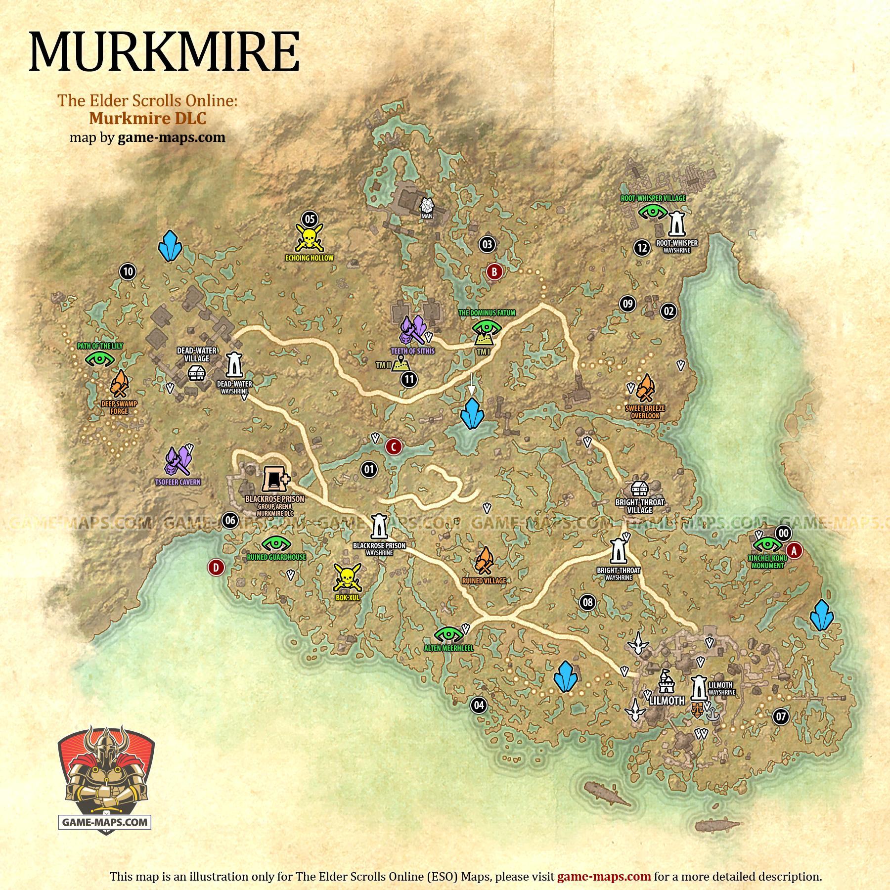 Stros M Kai Map : stros, Murkmire, Elder, Scrolls, Online, Game-maps.com