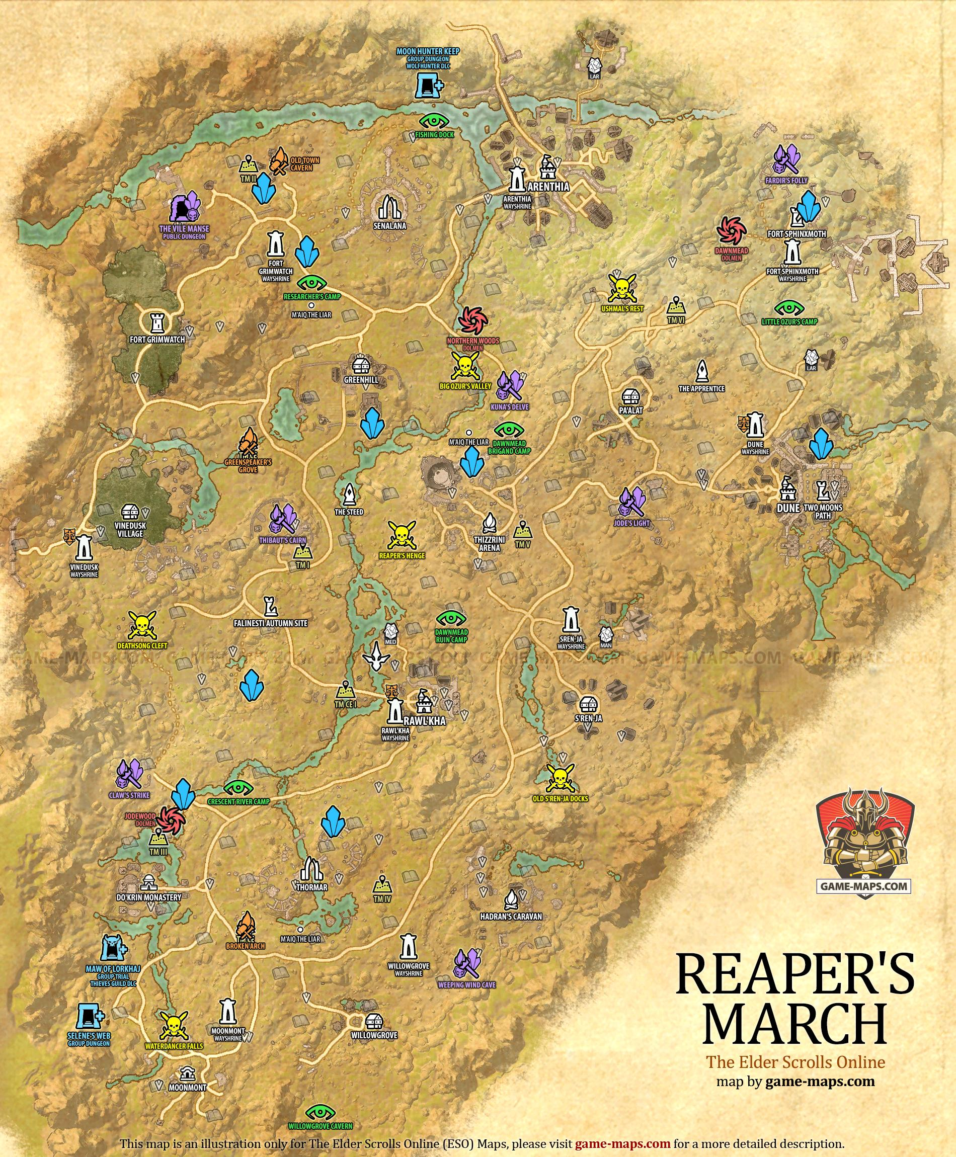 Malabal Tor Map : malabal, Reaper's, March, Elder, Scrolls, Online, Game-maps.com