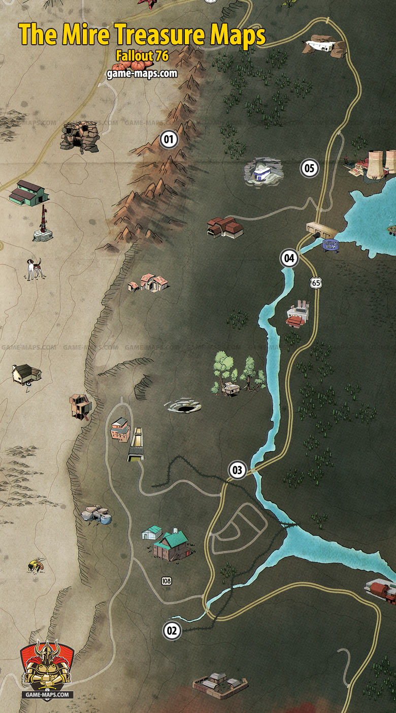 Fallout 76 Savage Divide Treasure Map 3 : fallout, savage, divide, treasure, Treasure, Fallout, Game-maps.com