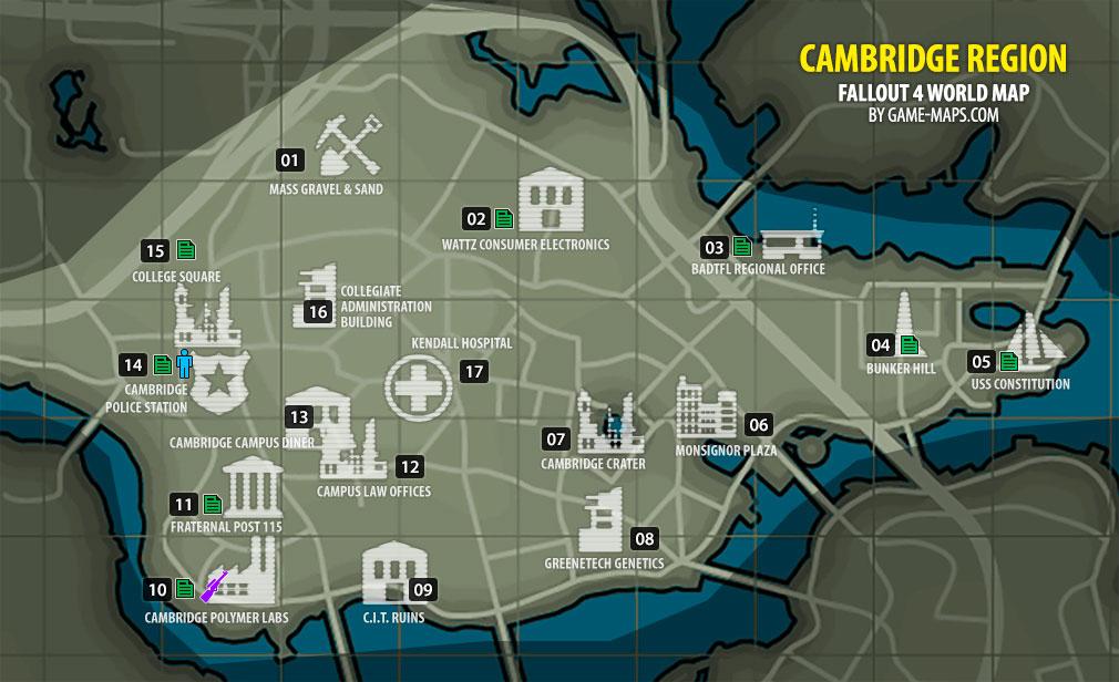 Cambridge Region Map Fallout 4