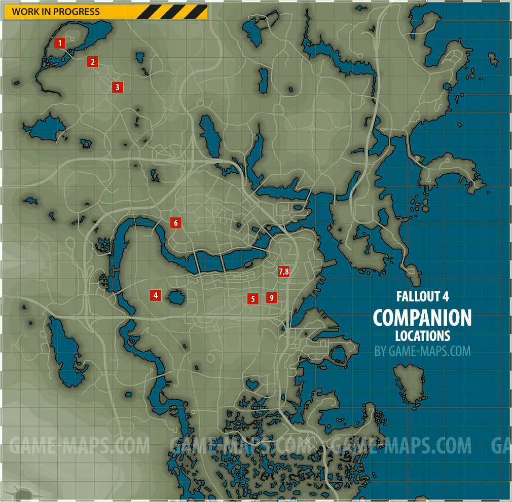 Companion Locations Map Fallout 4
