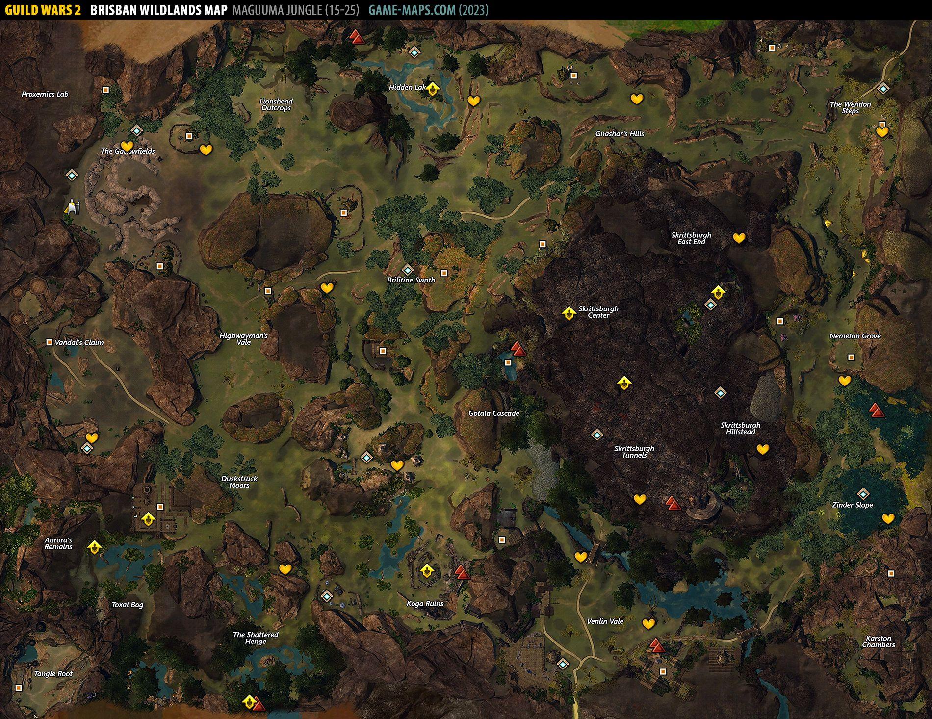 Brisban Wildlands Map Guild Wars 2