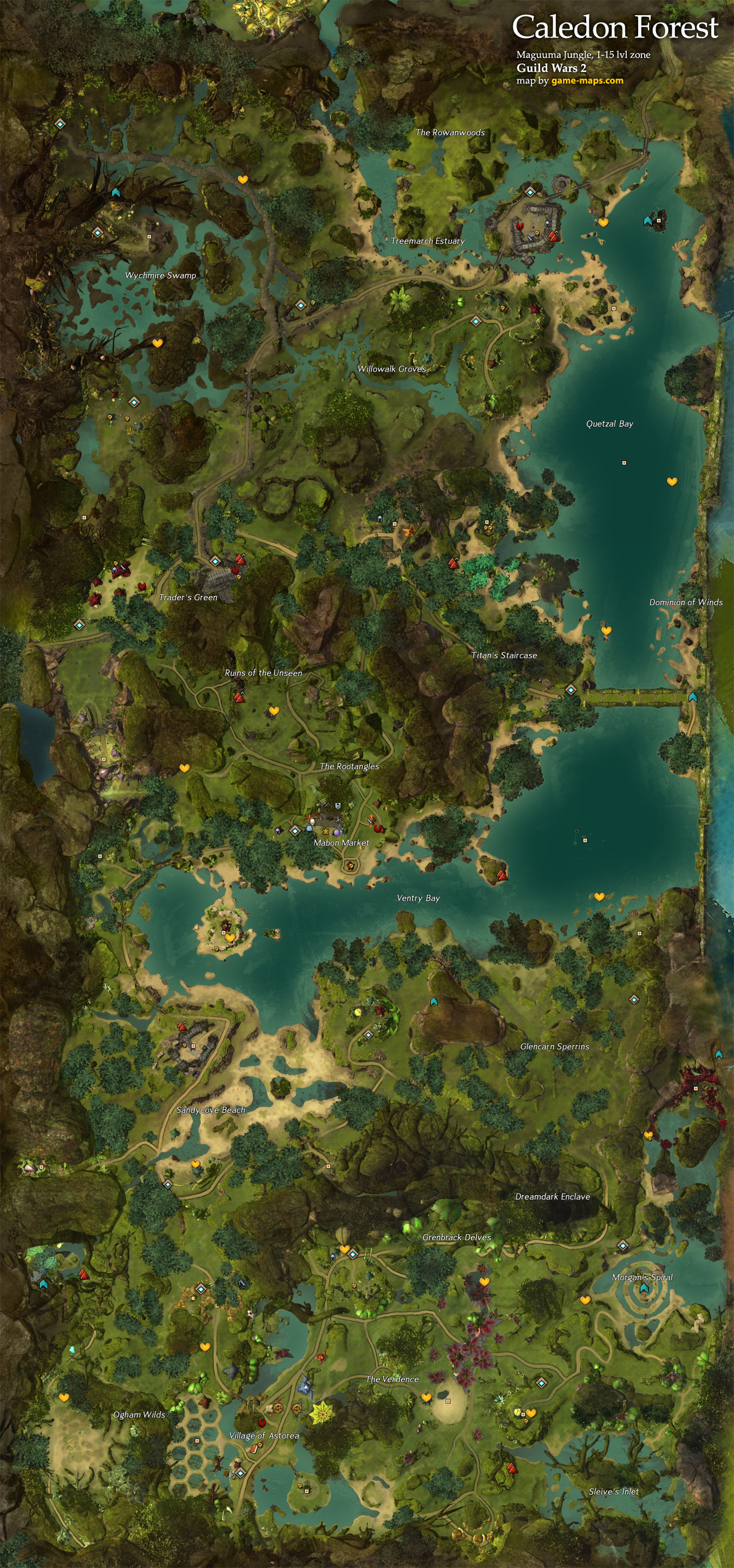 Gw2 Metrica Province Hero Points : metrica, province, points, Caledon, Forest, Guild, Game-maps.com