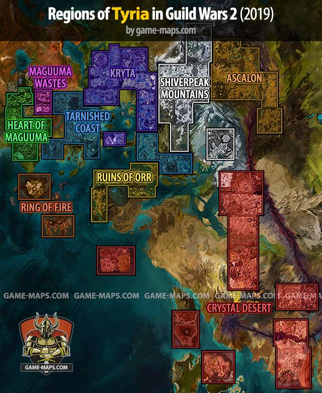 Path Of Fire Map : Guild, (2019), Game-maps.com