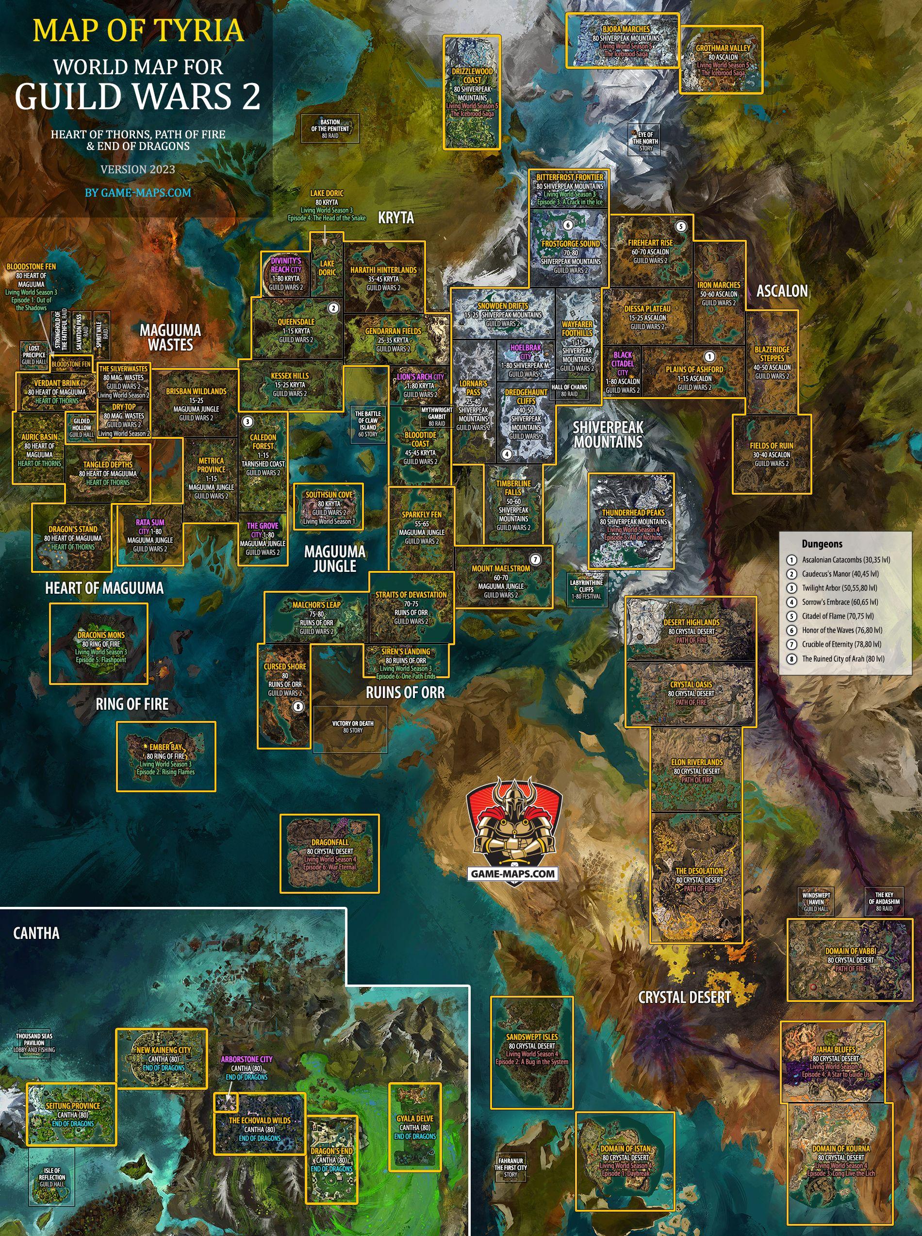 Enchanted Map Gw2 : enchanted, Guild, World, Atlas