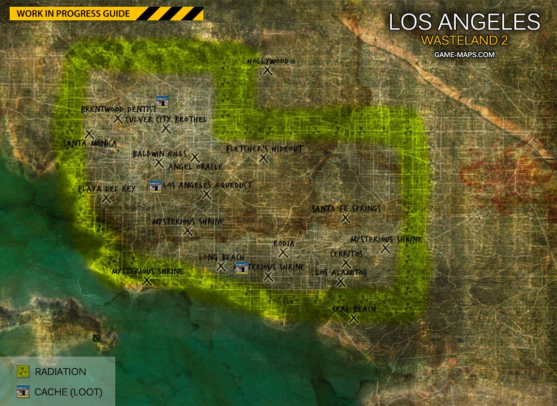 Los Angeles World Map Wasteland 2
