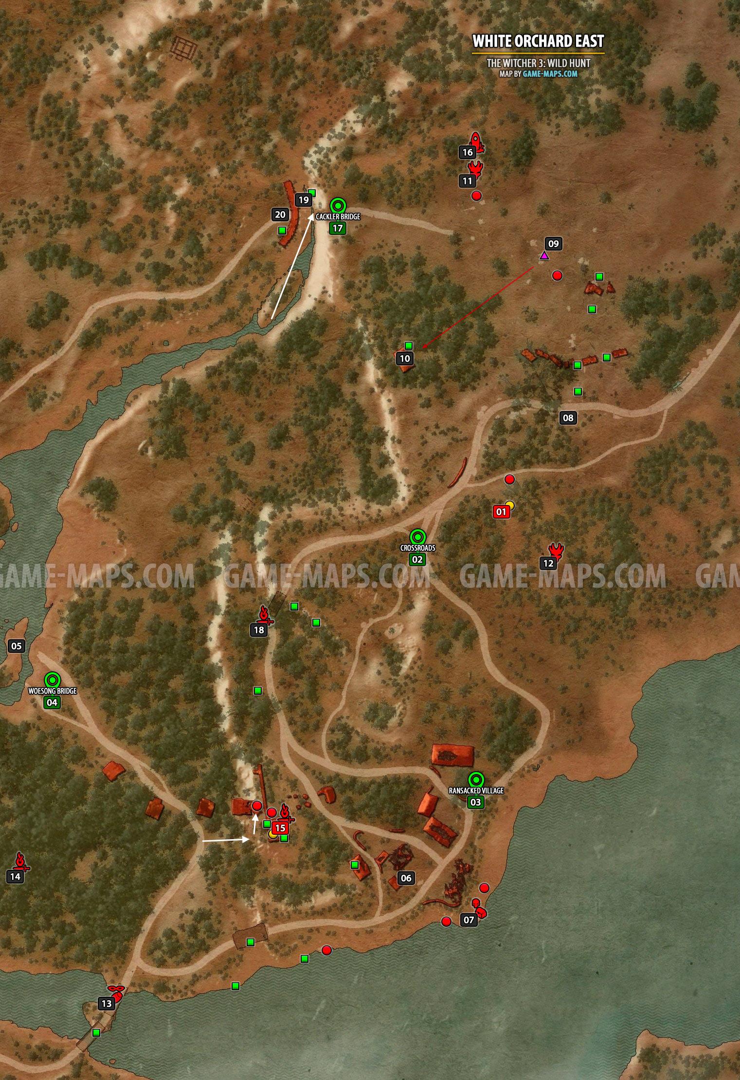 White Orchard Map : white, orchard, White, Orchard, Witcher, Game-maps.com