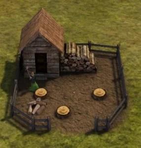 Banished薪割り場