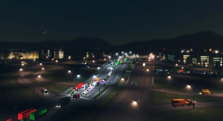 intersection008 - 【シティーズ スカイライン 攻略ブログ】 渋滞しない交差点の作り方