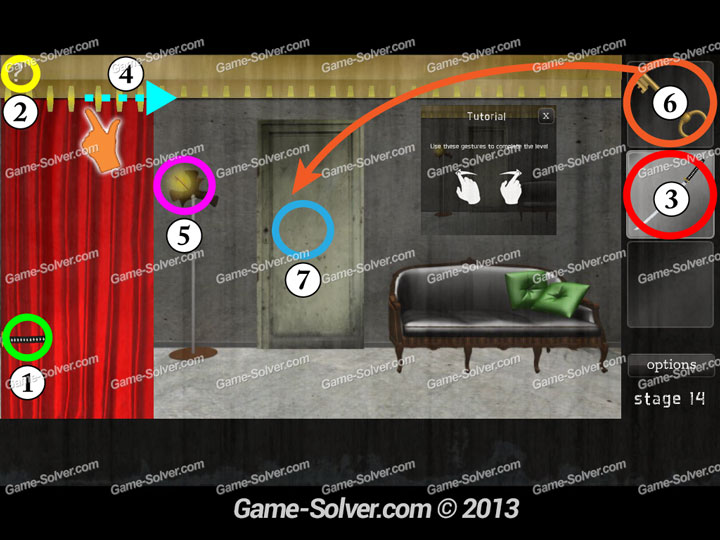 Dark Doors Escape Stage 14 Game Solver