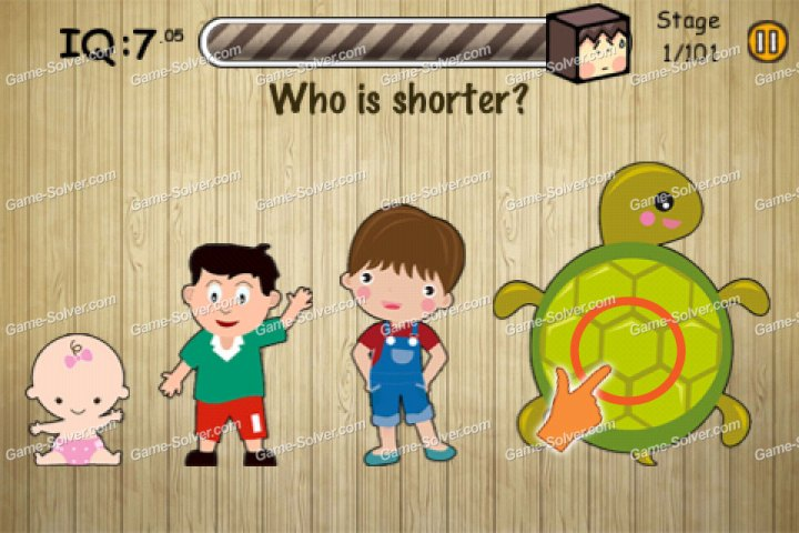 Stupidness 3 Stage 1 - Who is shorter?