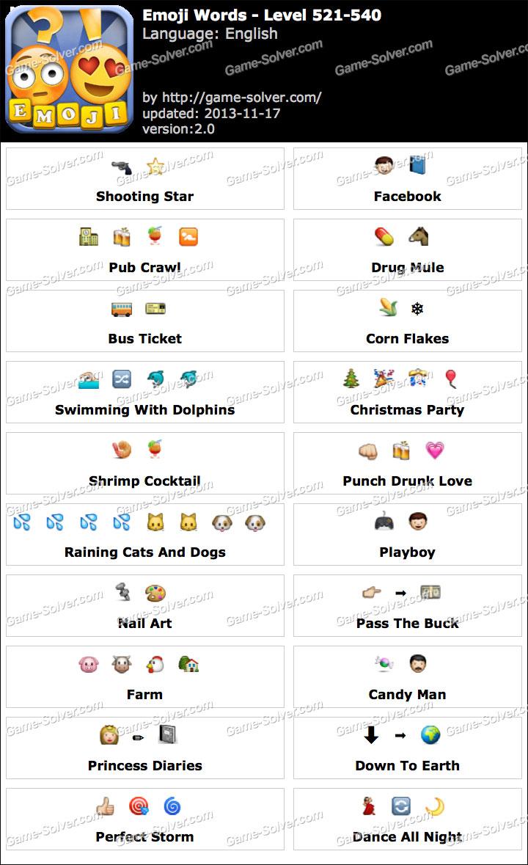 Emoji Words Level 521-540
