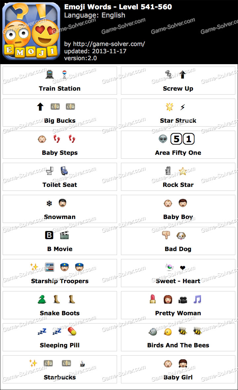 Emoji Words Level 541-560