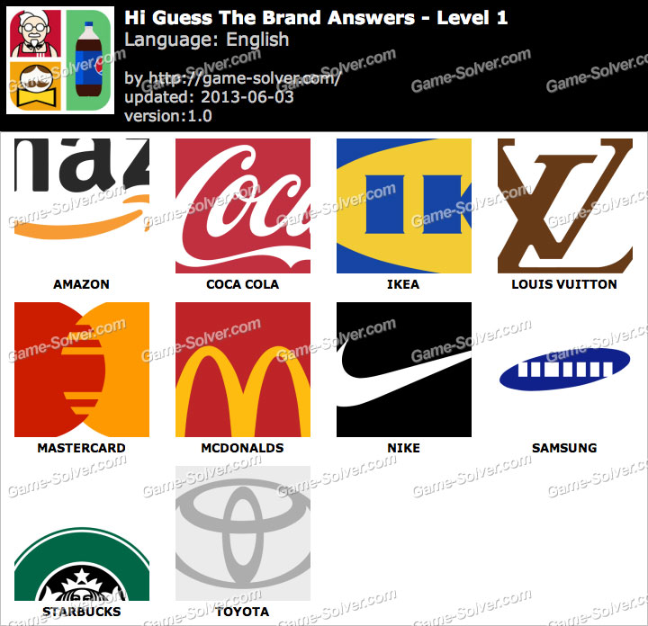 Hi Guess the Brand Level 1