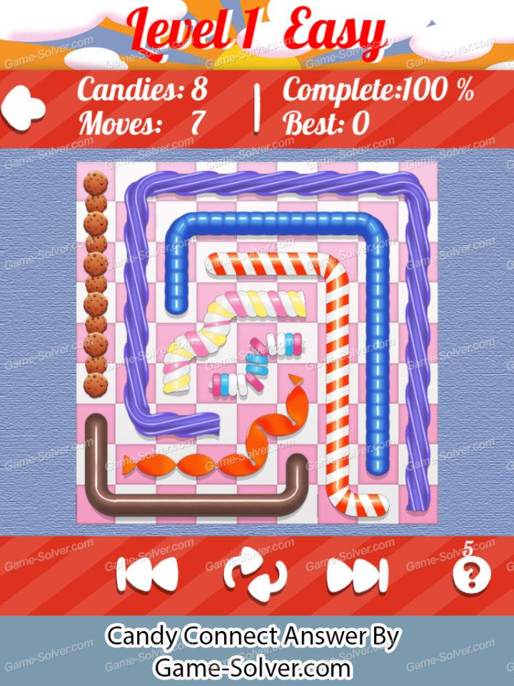 Candy Connect 9x9 Easy Level 1