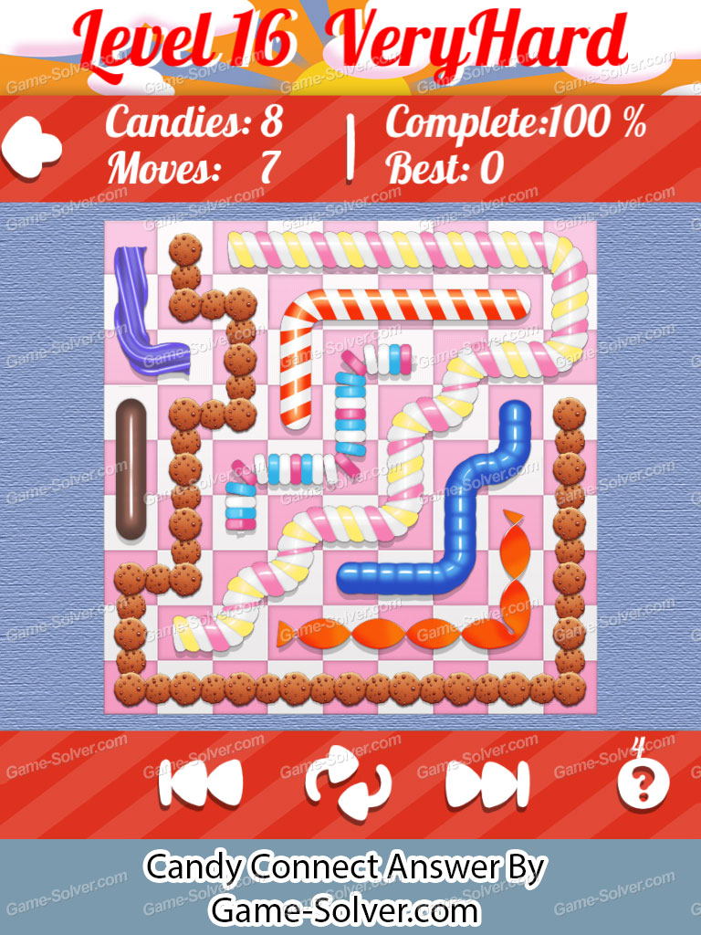 Candy Connect 9x9 Very Hard Level 16