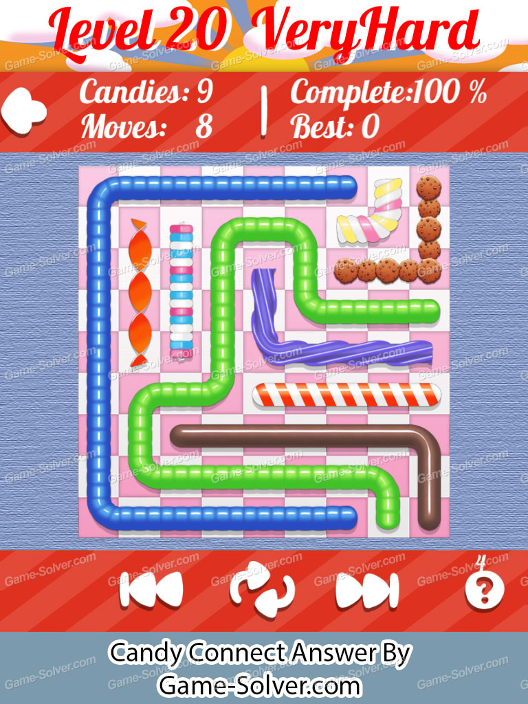 Candy Connect 9x9 Very Hard Level 20