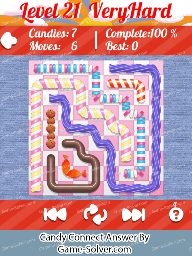 Candy Connect 9x9 Very Hard Level 21