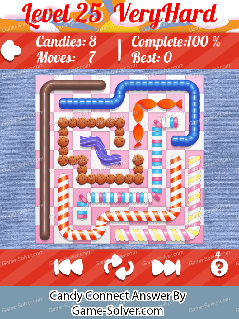 Candy Connect 9x9 Very Hard Level 25