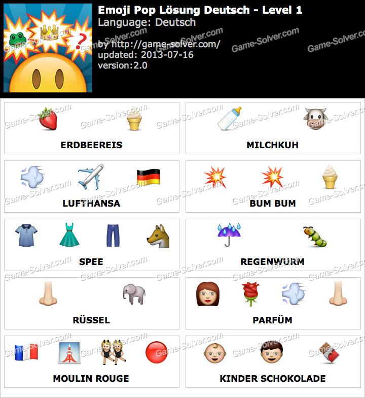 Emoji Pop Deutsch Level 1