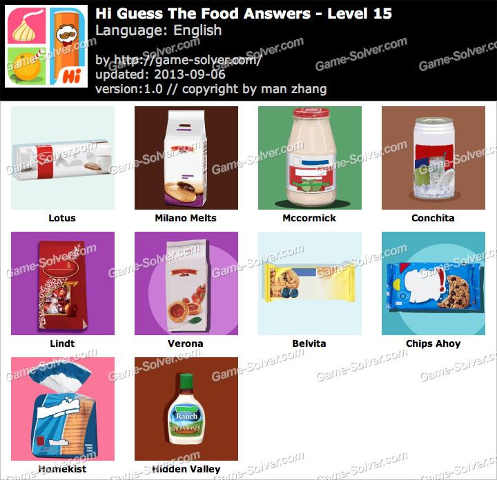 Hi Guess the Food Level 15